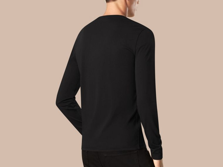 Black Liquid-soft Cotton Top Black - cell image 1