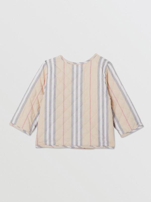 Chaqueta cruzada en algodón acolchado a rayas Icon Stripe (Piedra Pálido) - Niños | Burberry - cell image 3