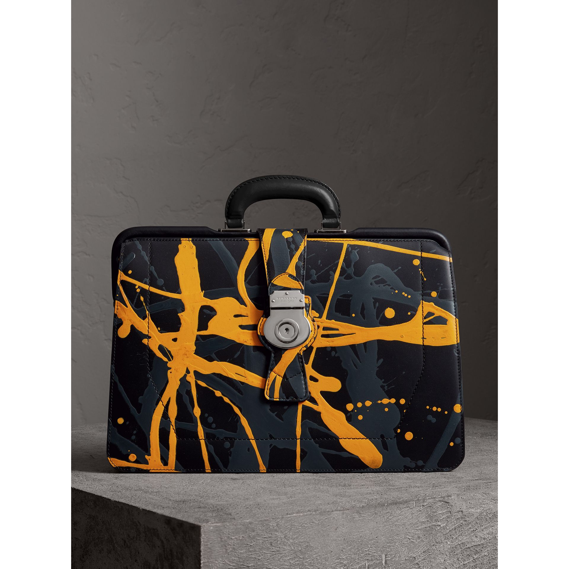 Sac docteur DK88 à imprimé Splash (Noir/splash) - Homme | Burberry Canada - photo de la galerie 0