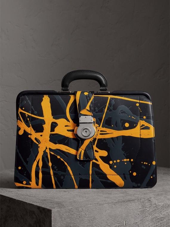La borsa da medico DK88 con motivo a macchie (Nero/macchie)