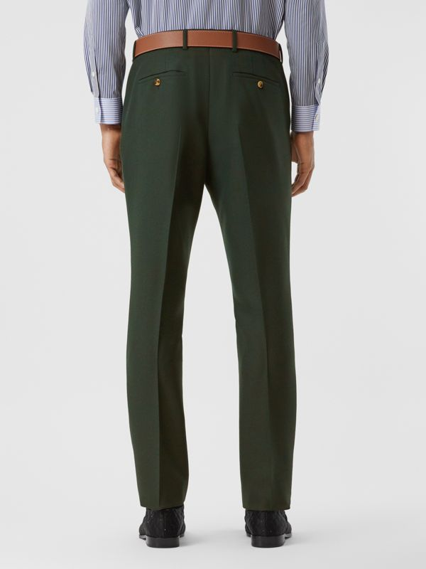Classic Fit Wool Mohair Tailored Trousers in Dark Forest Green - Men | Burberry - cell image 2