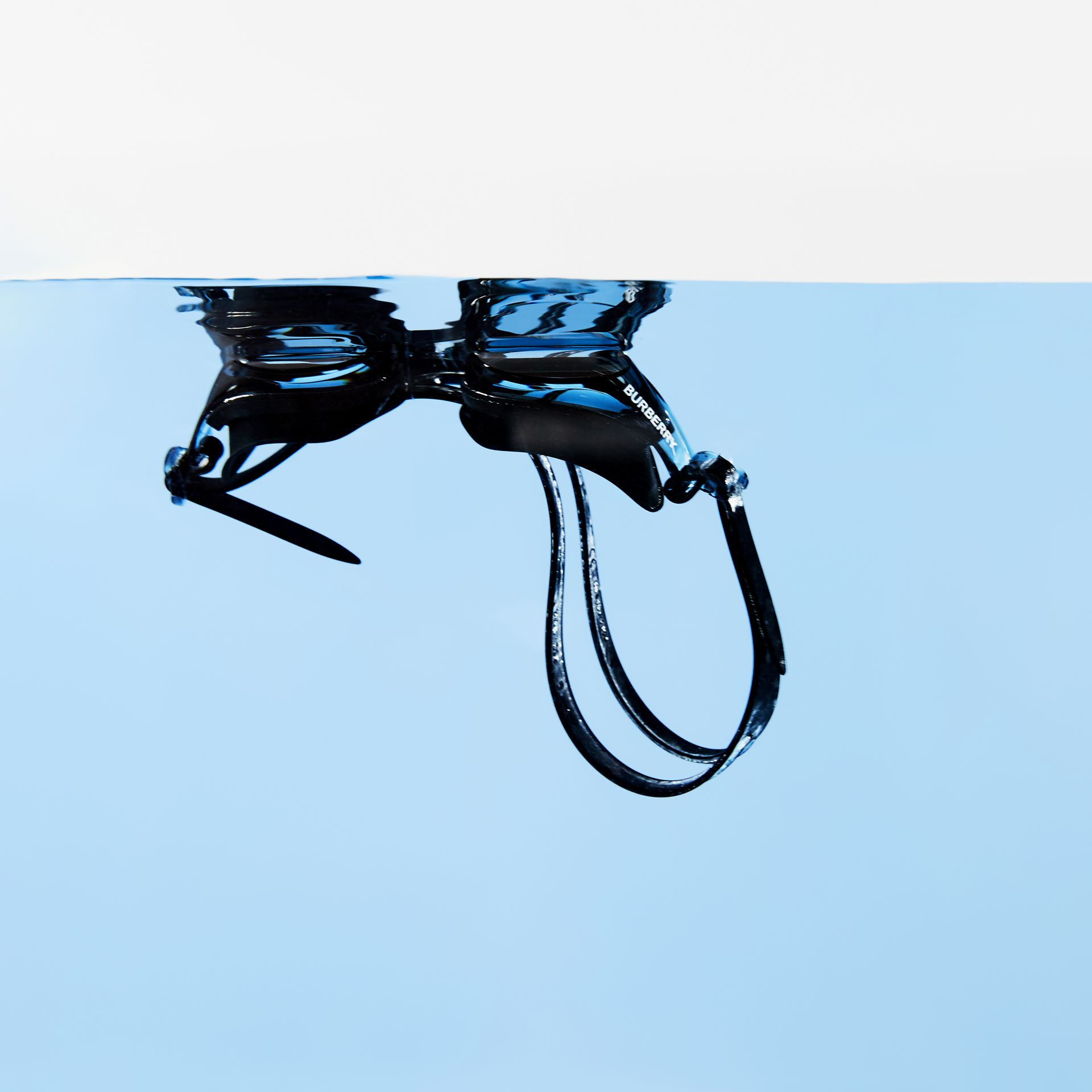Logo Print Swimming Goggles in Black | Burberry - gallery image 6