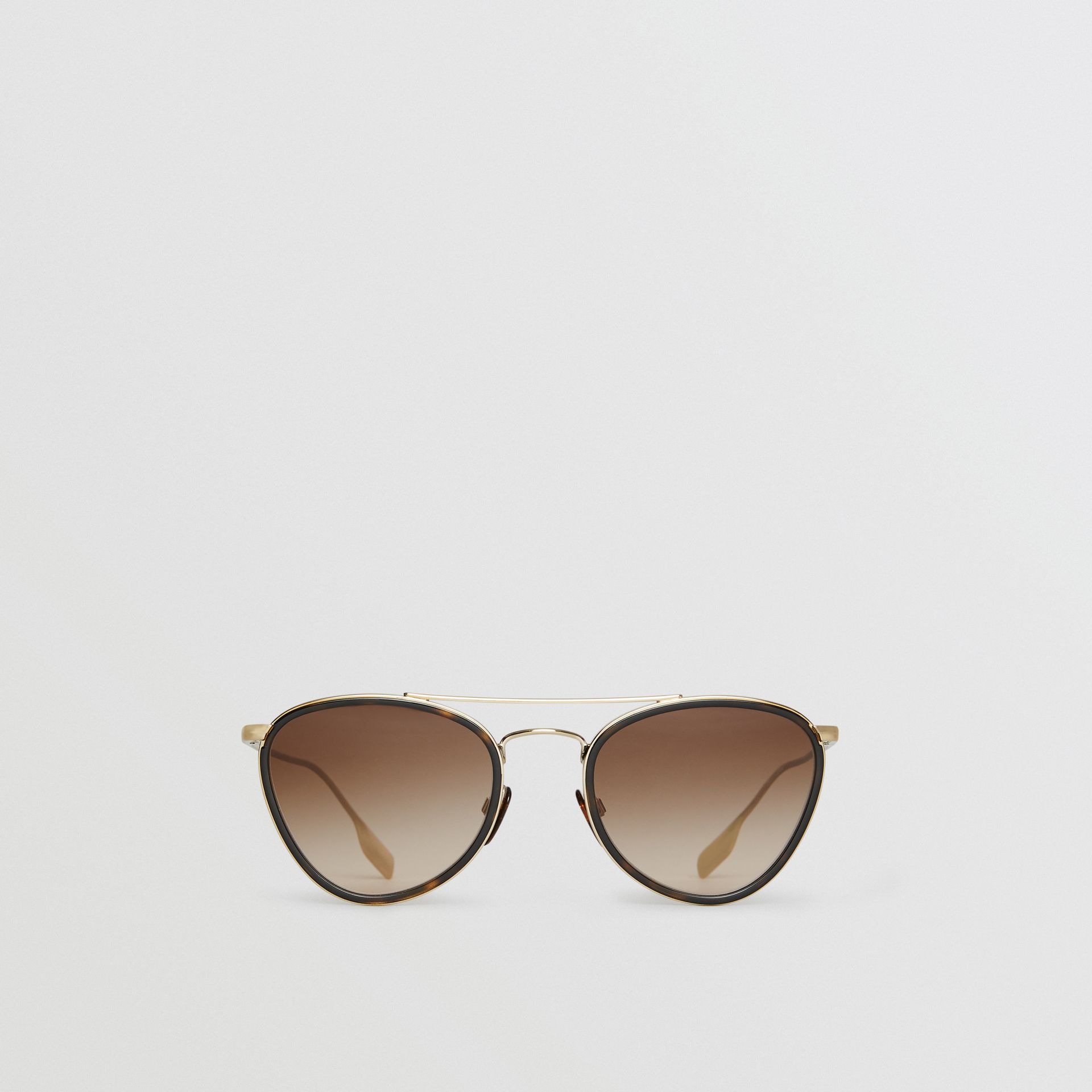 Pilot Sunglasses in Tortoise Shell - Women | Burberry - gallery image 0