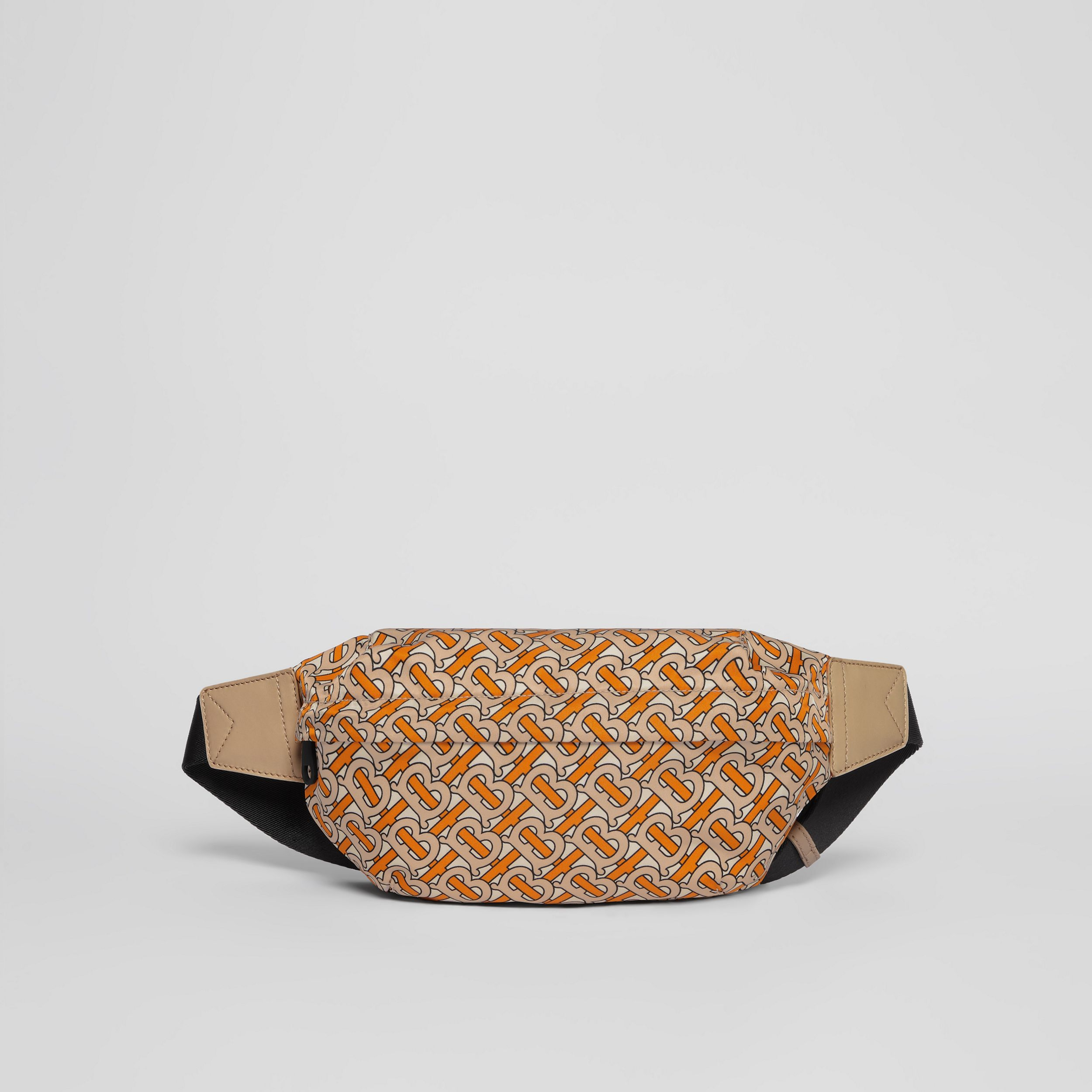 Medium Monogram Print Bum Bag in Bright Orange | Burberry - 1