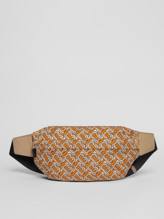 Medium Monogram Print Bum Bag in Bright Orange
