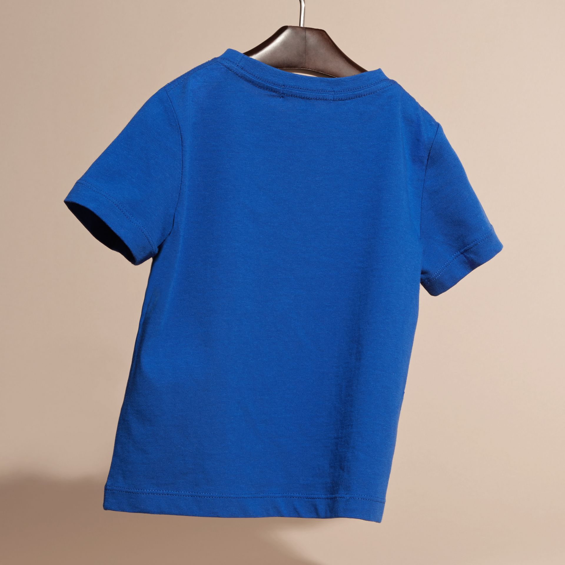 Brilliant blue Check Pocket T-Shirt Brilliant Blue - gallery image 4