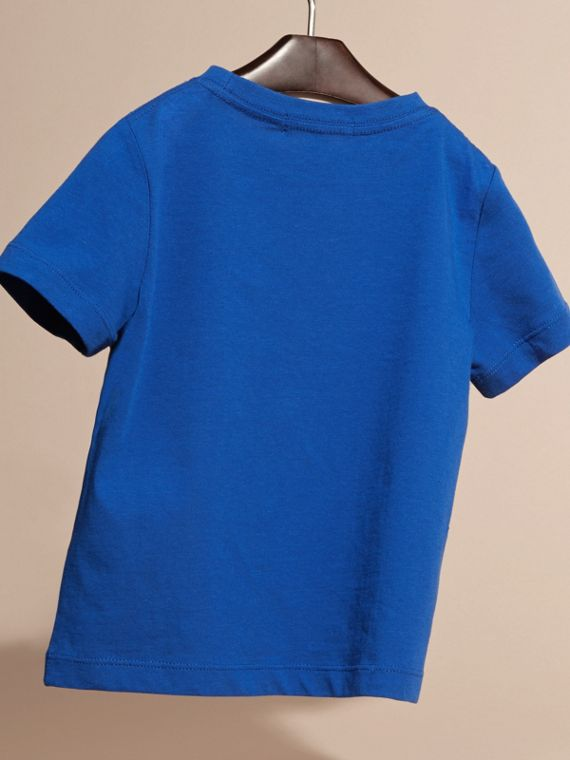 Brilliant blue Check Pocket T-Shirt Brilliant Blue - cell image 3