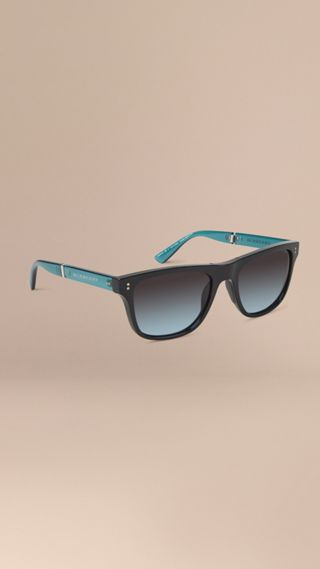 Foldable Rectangular Frame Sunglasses