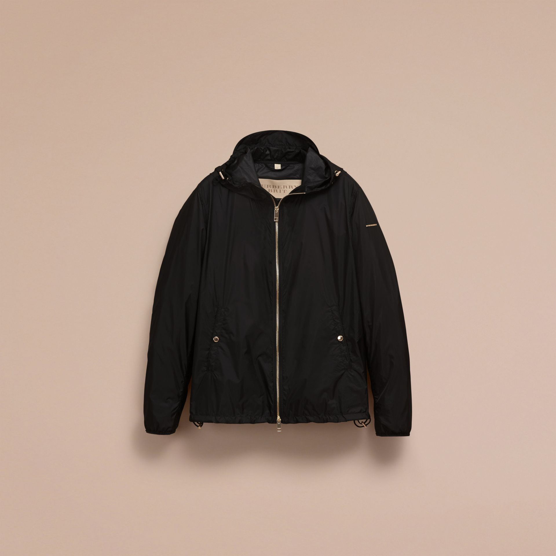 Hooded Super-lightweight Jacket Black - gallery image 4