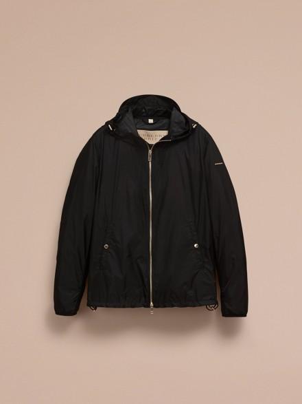 Hooded Super-lightweight Jacket Black | Burberry