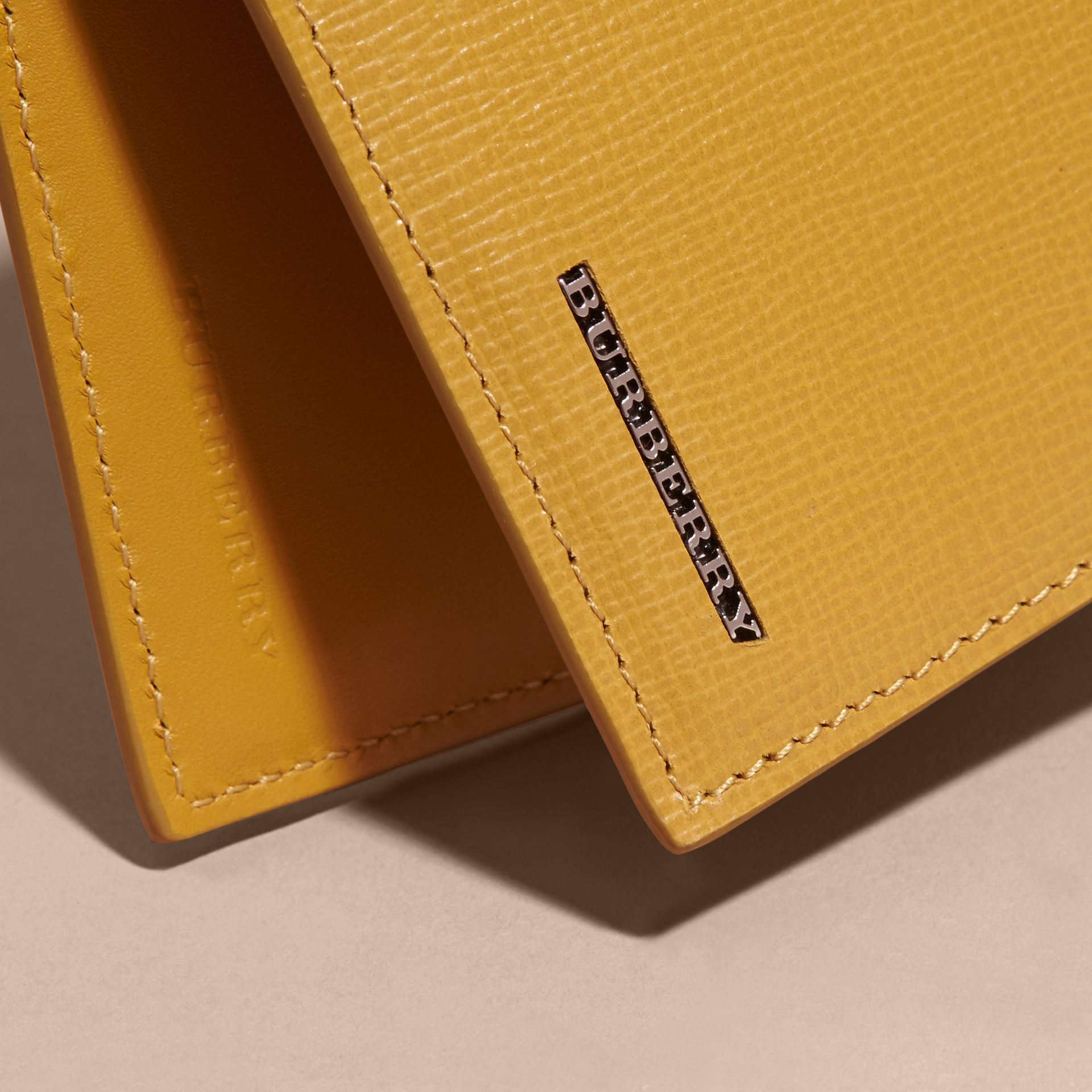 London Leather Bifold Wallet in Larch Yellow - gallery image 4