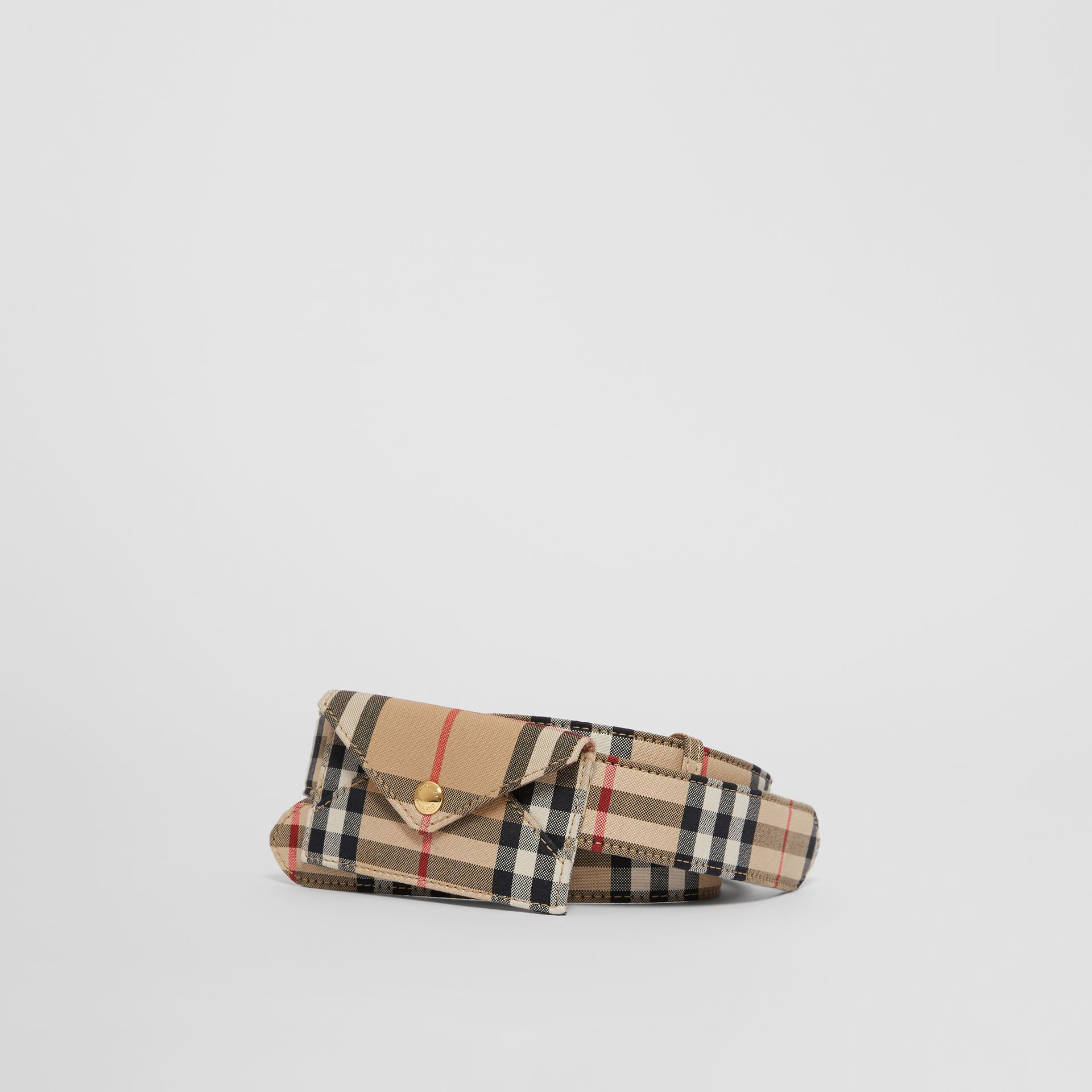 Envelope Detail Vintage Check Cotton Belt in Archive Beige - Women | Burberry United States - gallery image 0