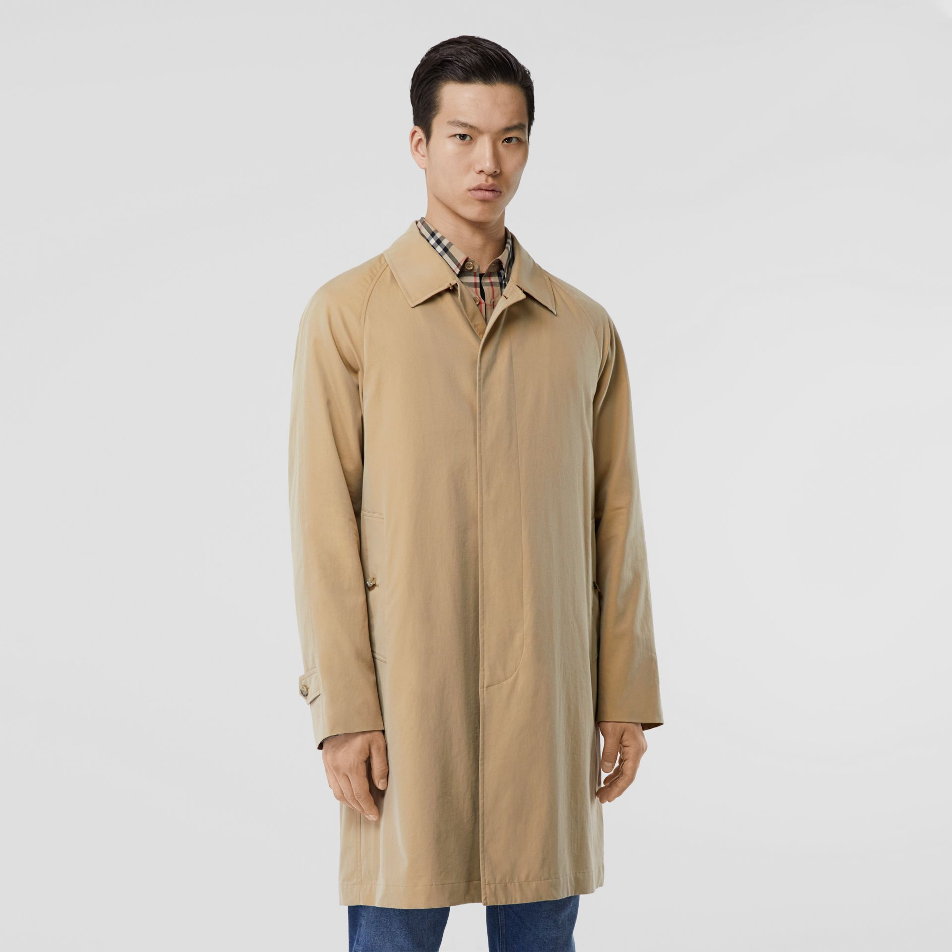 The Camden Car Coat in Honey - Men | Burberry United Kingdom - gallery image 6