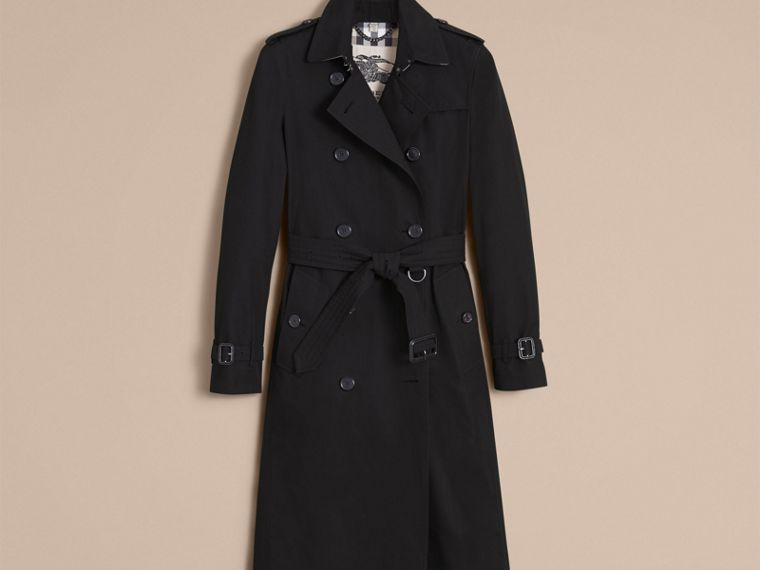 Black The Kensington – Extra-long Heritage Trench Coat Black - cell image 4