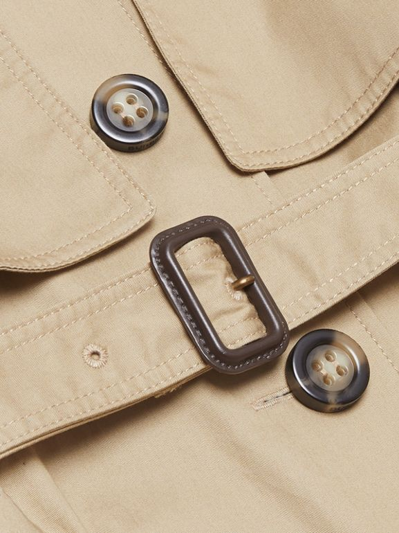 Cotton Trench Jumpsuit in Honey | Burberry - cell image 1