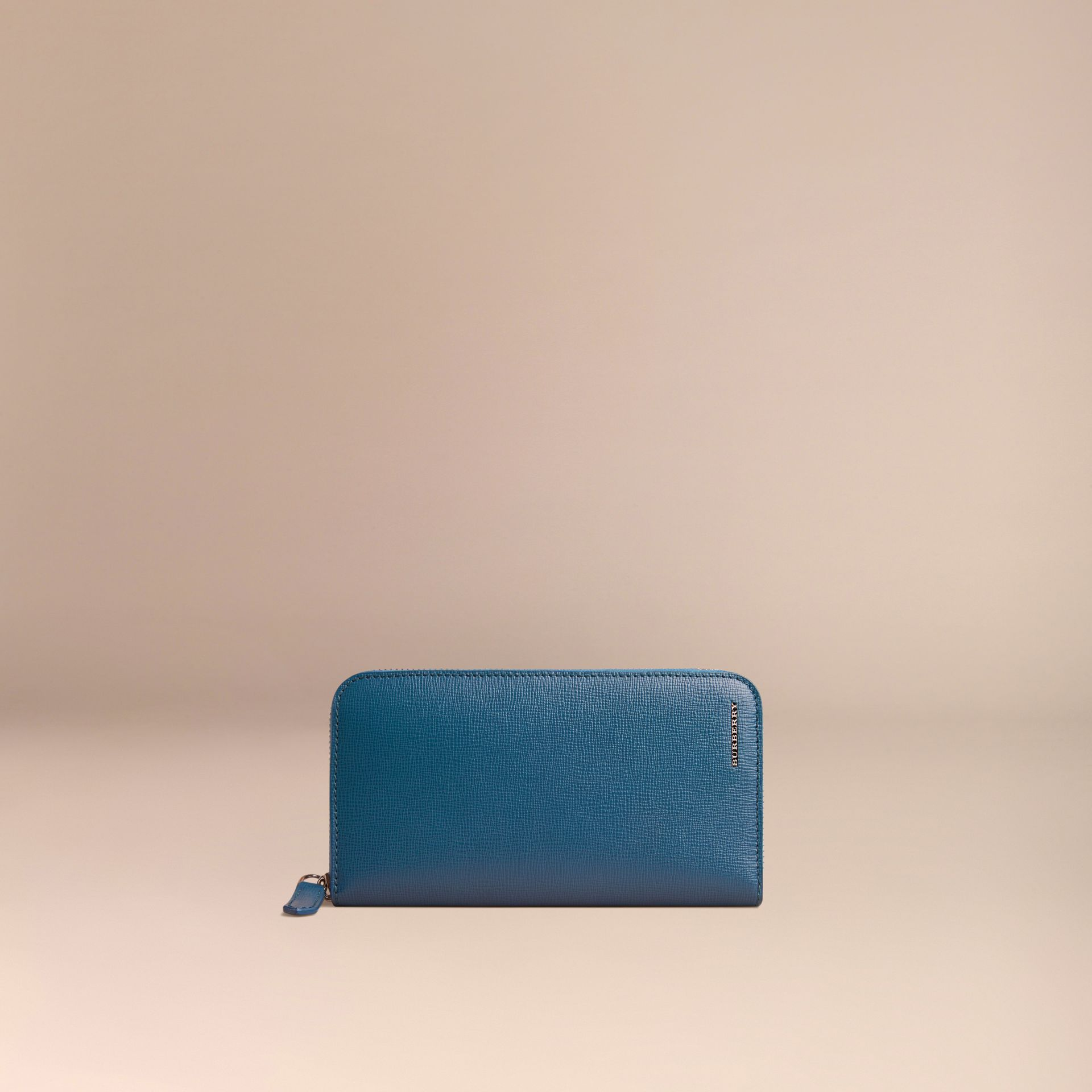 London Leather Ziparound Wallet Mineral Blue - gallery image 3