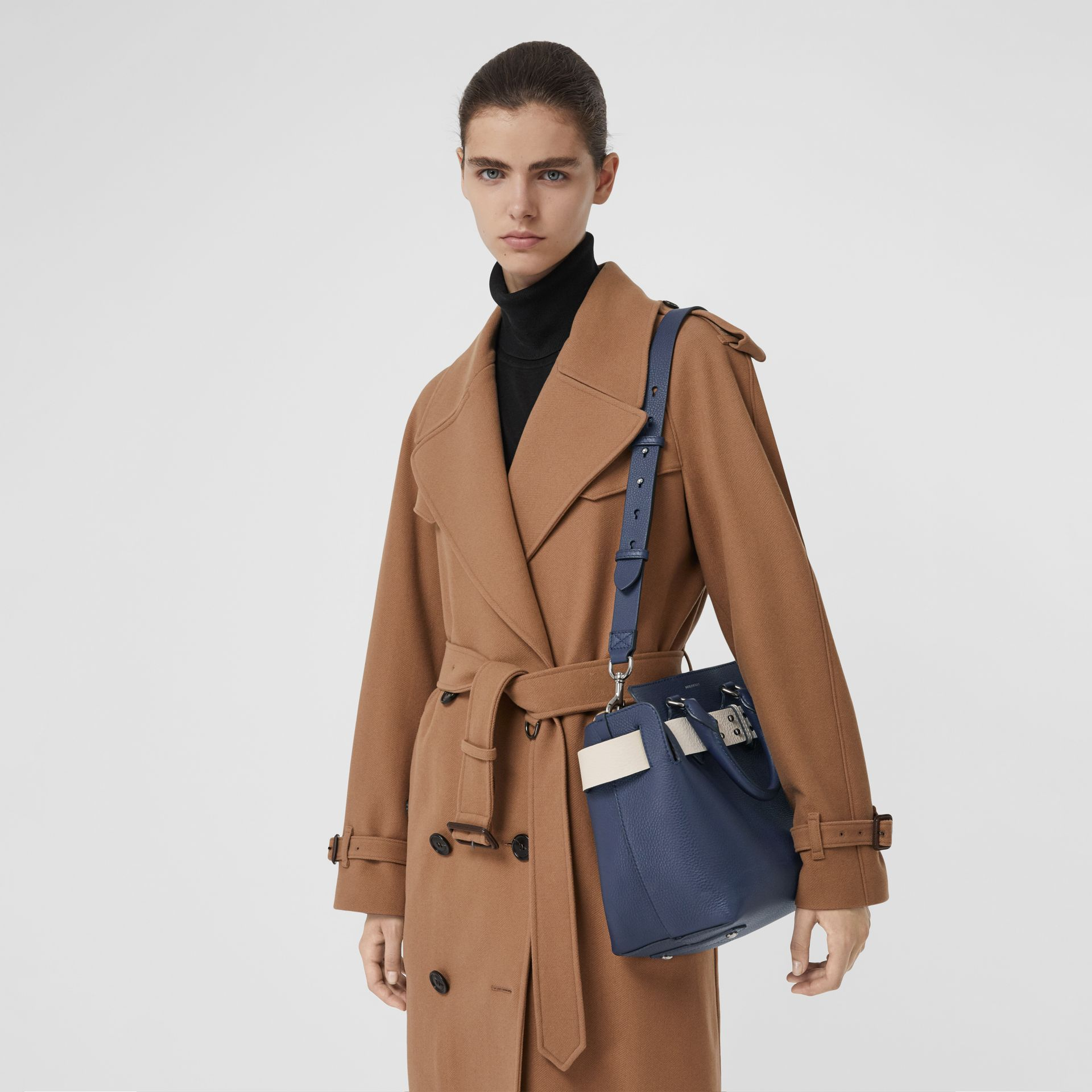 The Small Leather Belt Bag in Regency Blue - Women | Burberry United States - gallery image 3