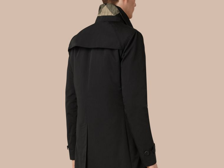 Black Lightweight Technical Car Coat with Down-filled Warmer - cell image 1