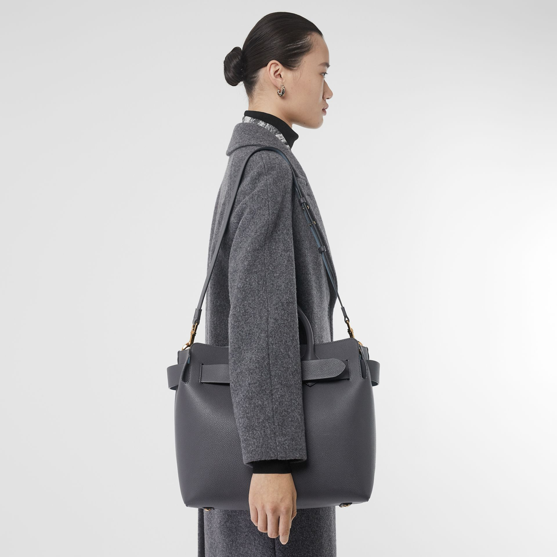 The Medium Leather Triple Stud Belt Bag in Charcoal Grey - Women | Burberry Singapore - gallery image 2