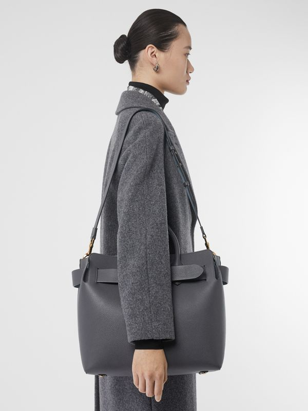 The Medium Leather Triple Stud Belt Bag in Charcoal Grey - Women | Burberry Singapore - cell image 2
