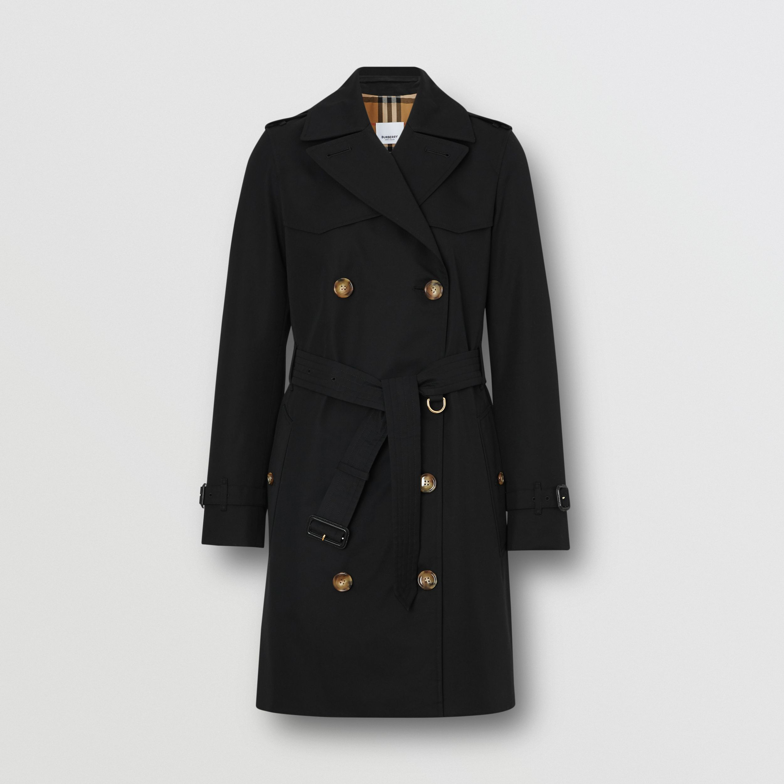 The Short Islington Trench Coat in Black - Women | Burberry - 4