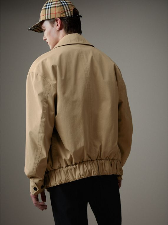 Tropical Gabardine Harrington Jacket in Honey - Men | Burberry Australia - cell image 2