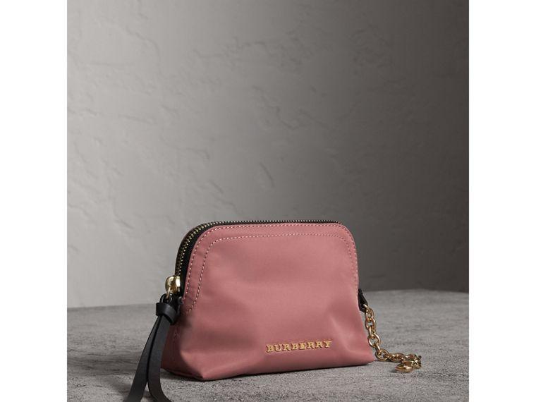Small Zip-top Technical Nylon Pouch in Mauve Pink - Women | Burberry United Kingdom - cell image 4
