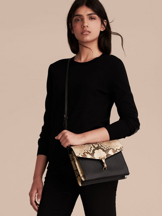 Small Python Crossbody Bag in Natural - Women | Burberry Canada - cell image 2