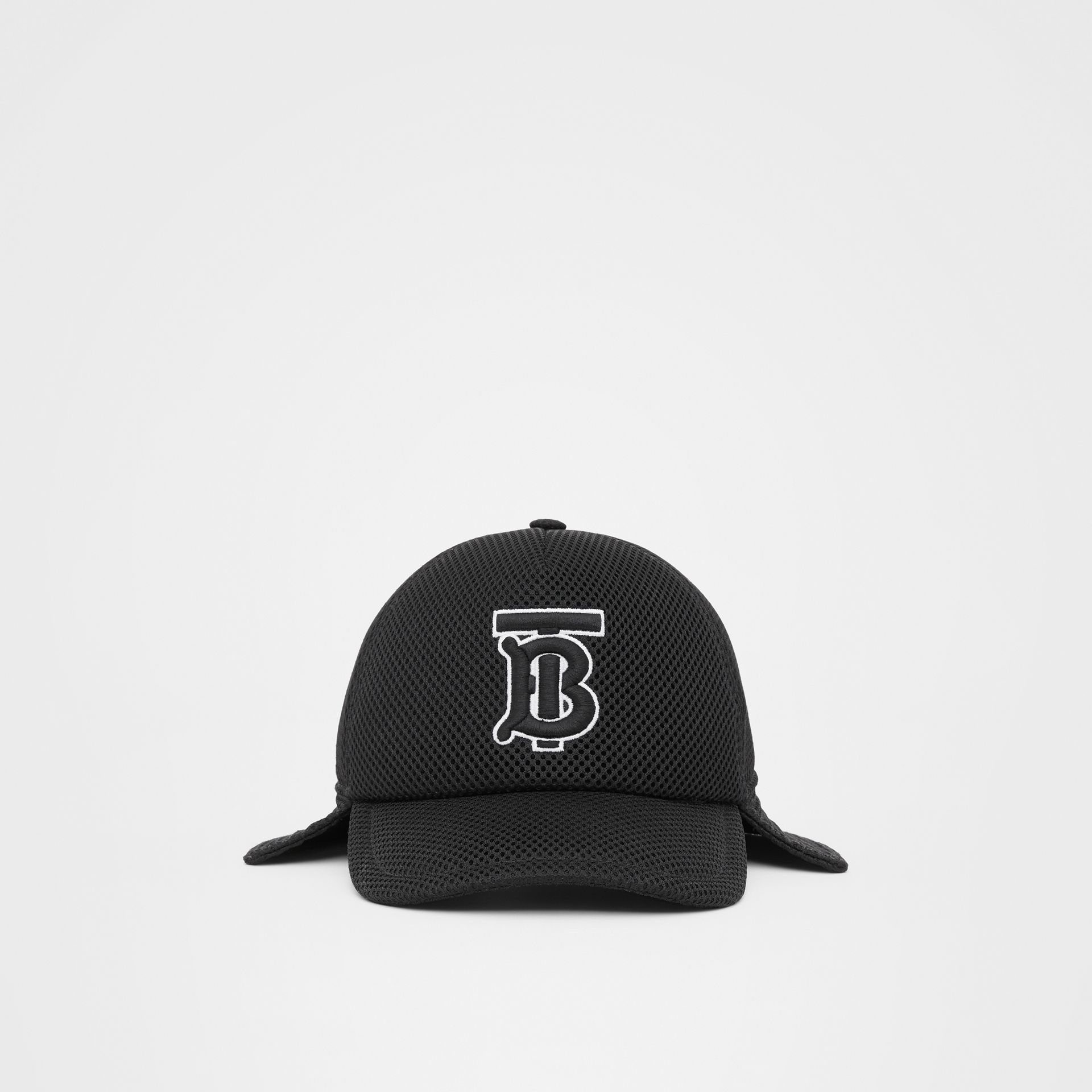 Monogram Motif Reconstructed Baseball Cap in Black   Burberry - gallery image 3