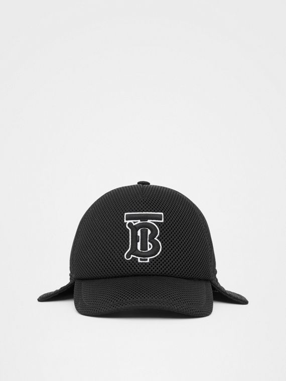 Monogram Motif Reconstructed Baseball Cap in Black