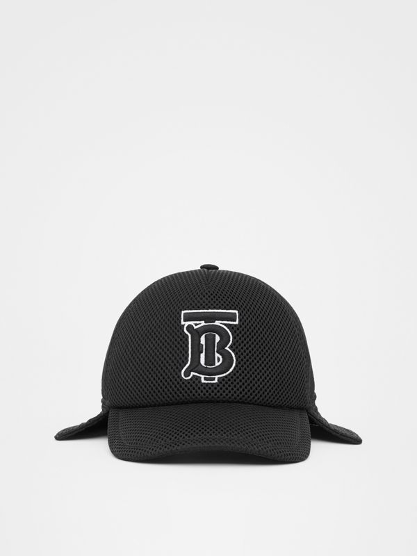 Monogram Motif Reconstructed Baseball Cap in Black | Burberry - cell image 3