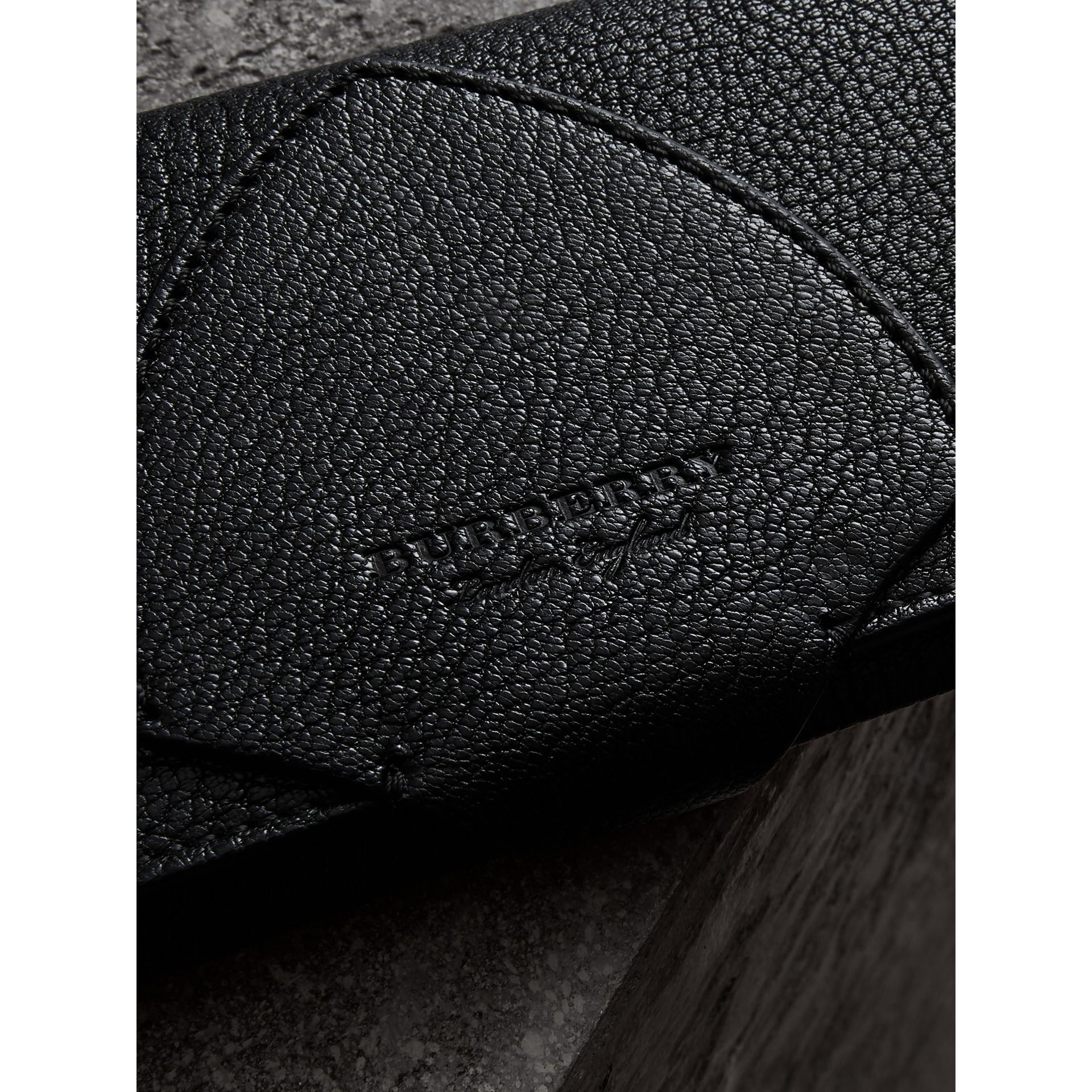 Equestrian Shield Two-tone Leather Continental Wallet in Black - Women | Burberry Canada - gallery image 1