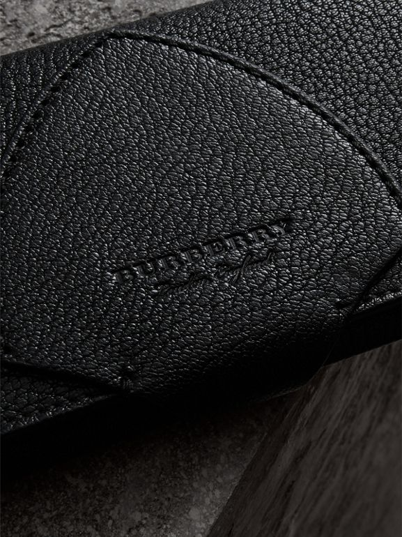Equestrian Shield Two-tone Leather Continental Wallet in Black - Women | Burberry Canada - cell image 1