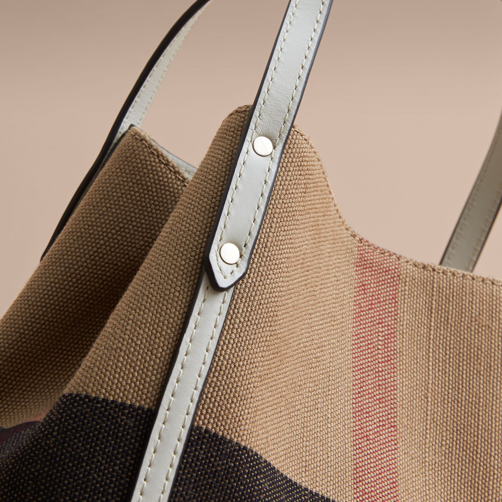 Canvas Check Tote Bag | Burberry - gallery image 2