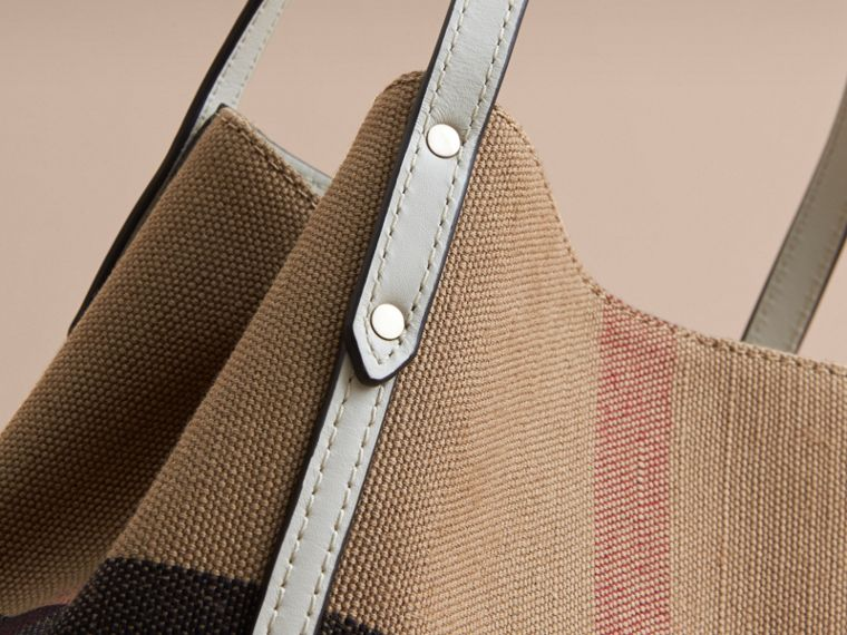 Canvas Check Tote Bag | Burberry - cell image 1