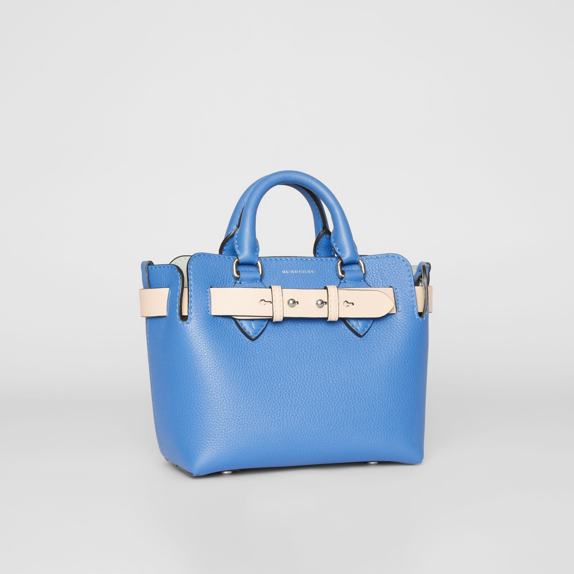 The Mini Leather Belt Bag in Hydrangea Blue - Women | Burberry - gallery image 6