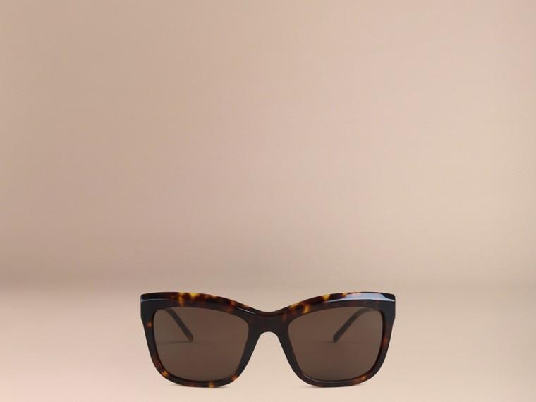 Écaille de tortue Lunettes de soleil à monture carrée – Collection Dentelle de gabardine Écaille  Tortue - cell image 1