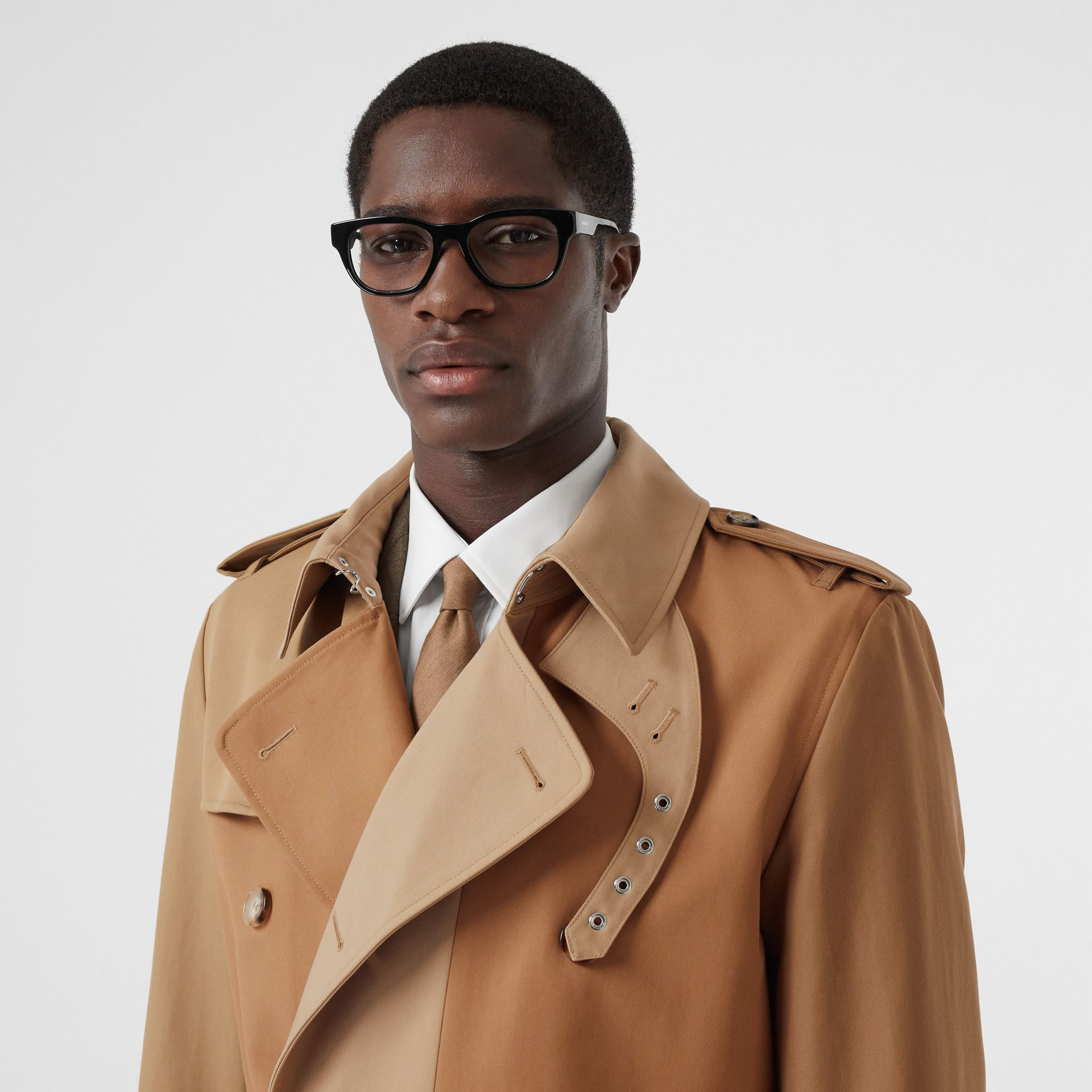 Panelled Cotton Trench Coat in Warm Camel - Men | Burberry Australia - gallery image 1
