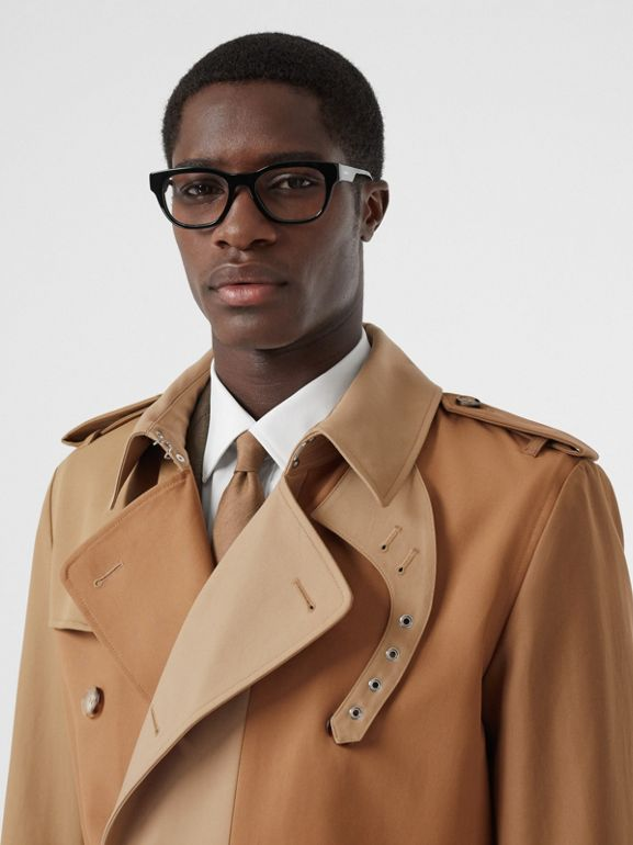 Panelled Cotton Trench Coat in Warm Camel - Men | Burberry Singapore - cell image 1