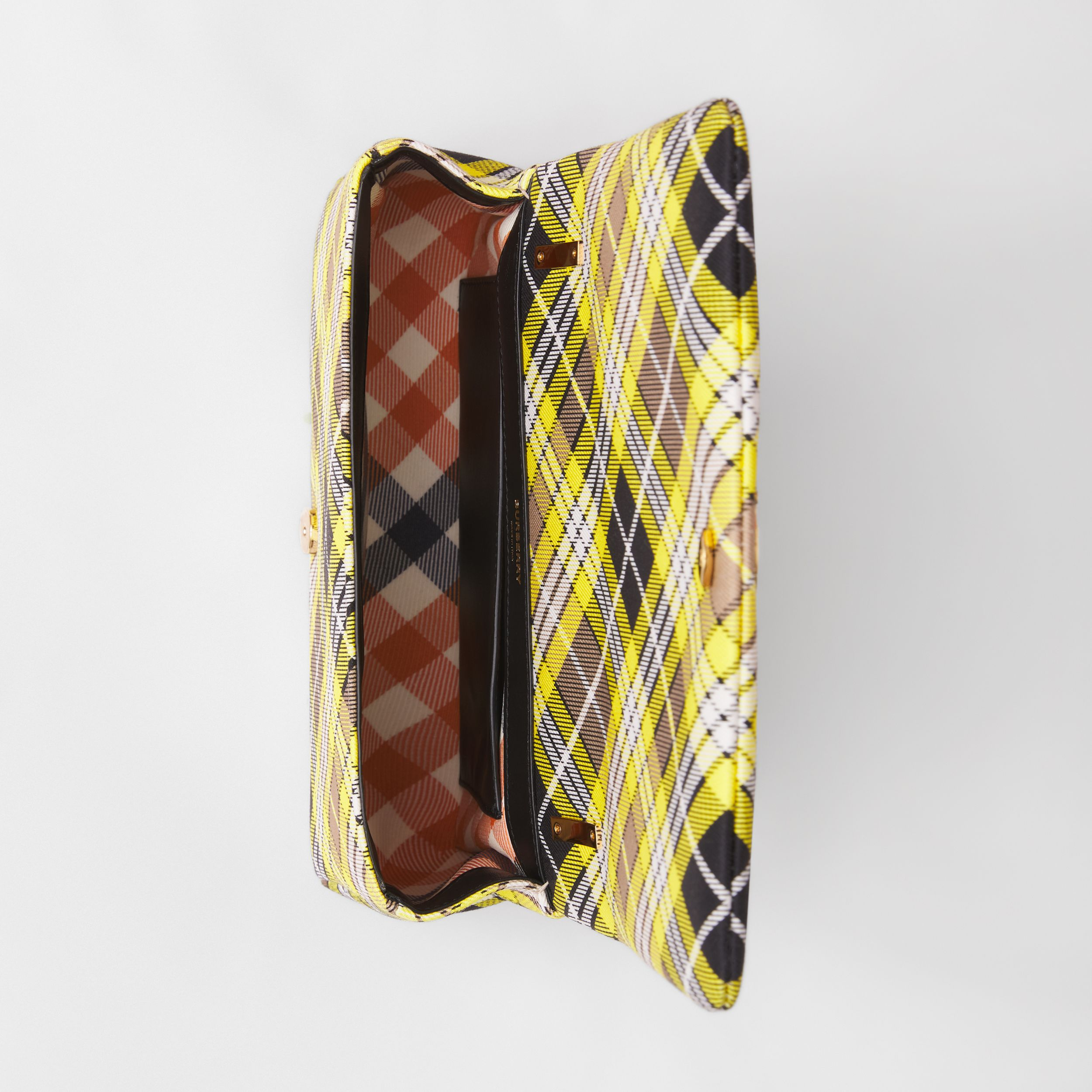 Small Tartan Cotton Lola Bag in Marigold Yellow - Women | Burberry - 4