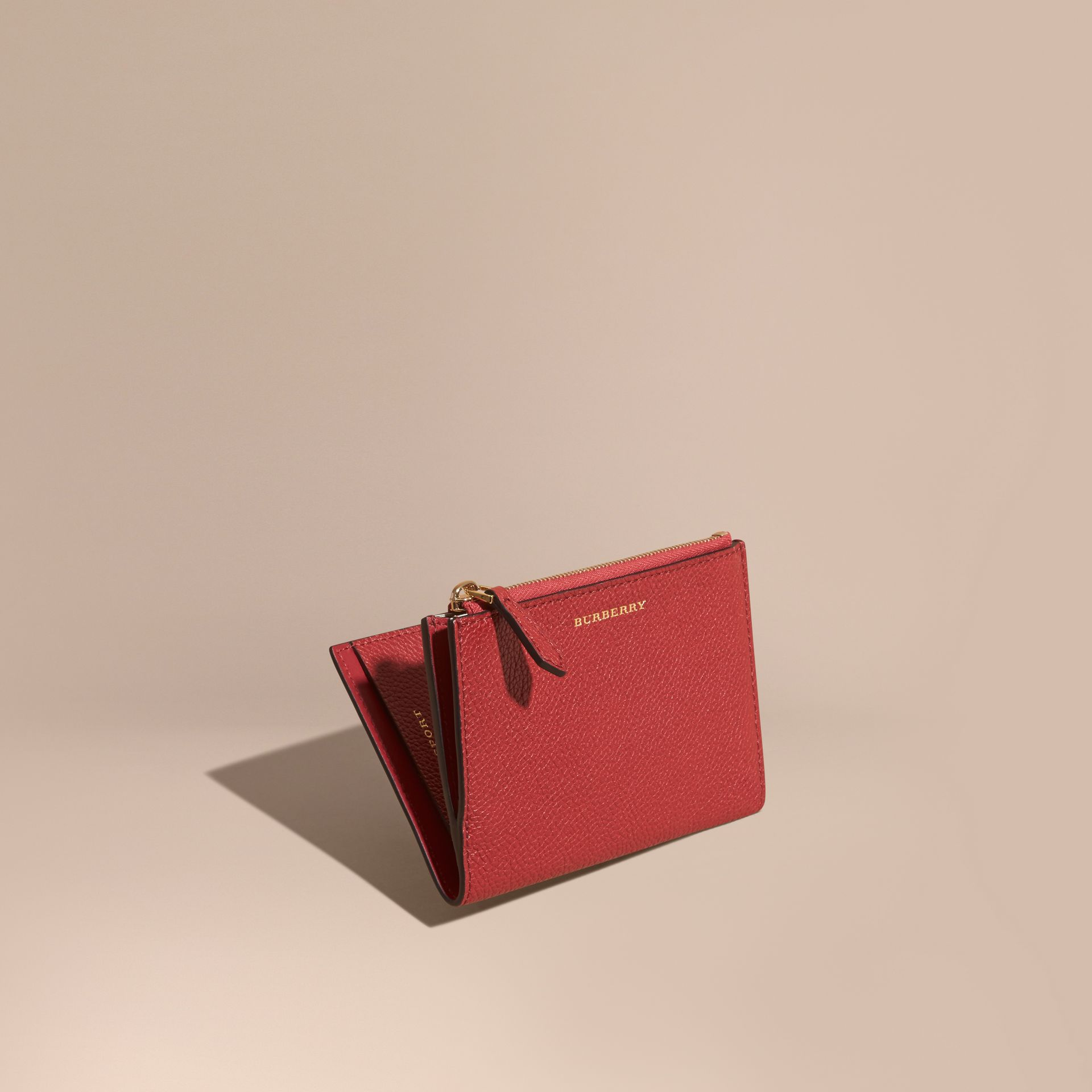 Leather Passport Wallet in Parade Red - gallery image 1