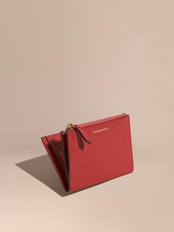 Leather Passport Wallet Parade Red