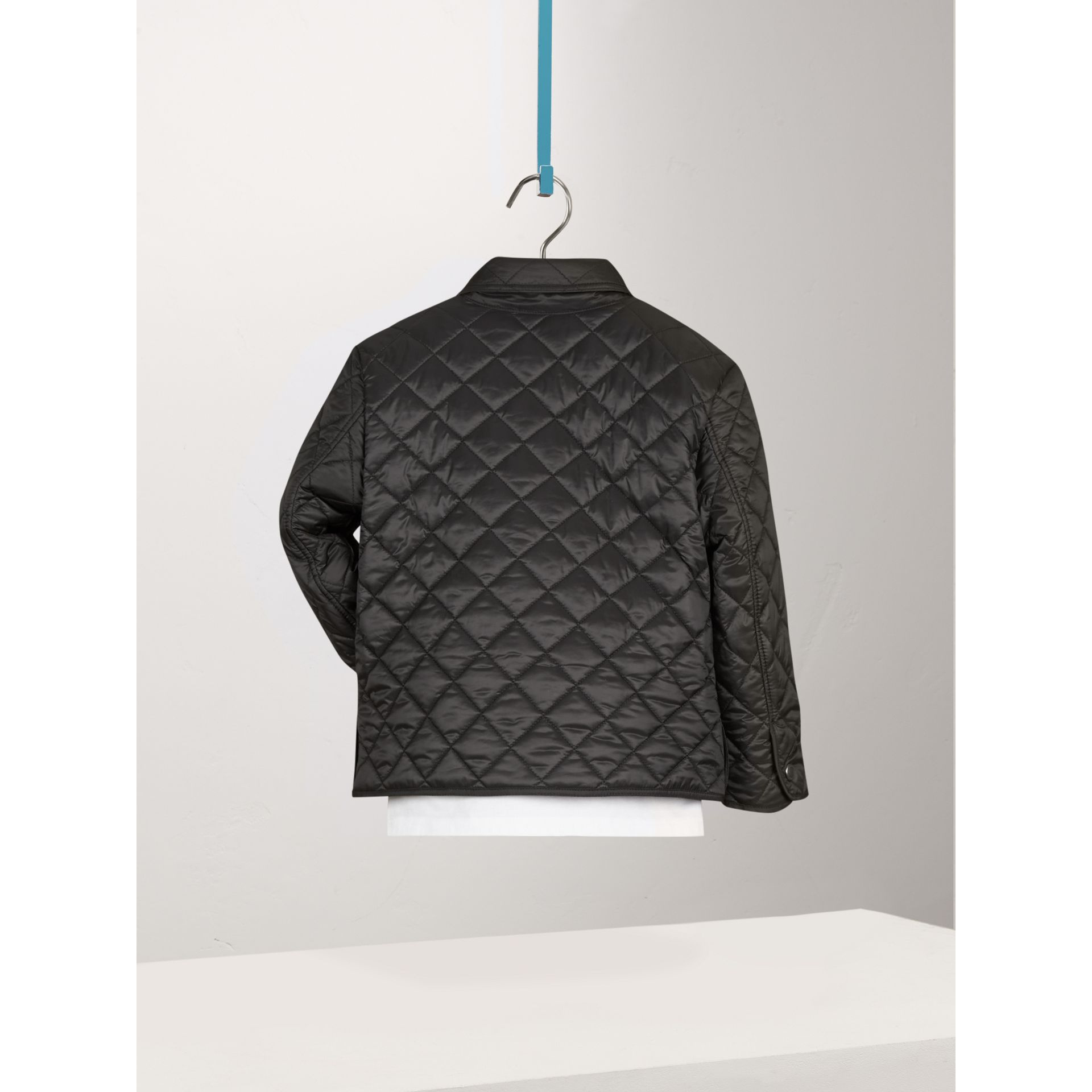 Diamond Quilted Jacket in Black - Boy | Burberry - gallery image 3
