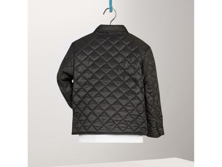 Diamond Quilted Jacket in Black - Boy | Burberry United States - cell image 2