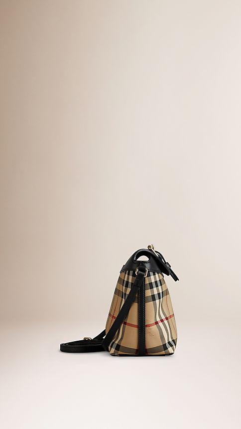 Honey/black Small Horseferry Check Clutch Bag - Image 4