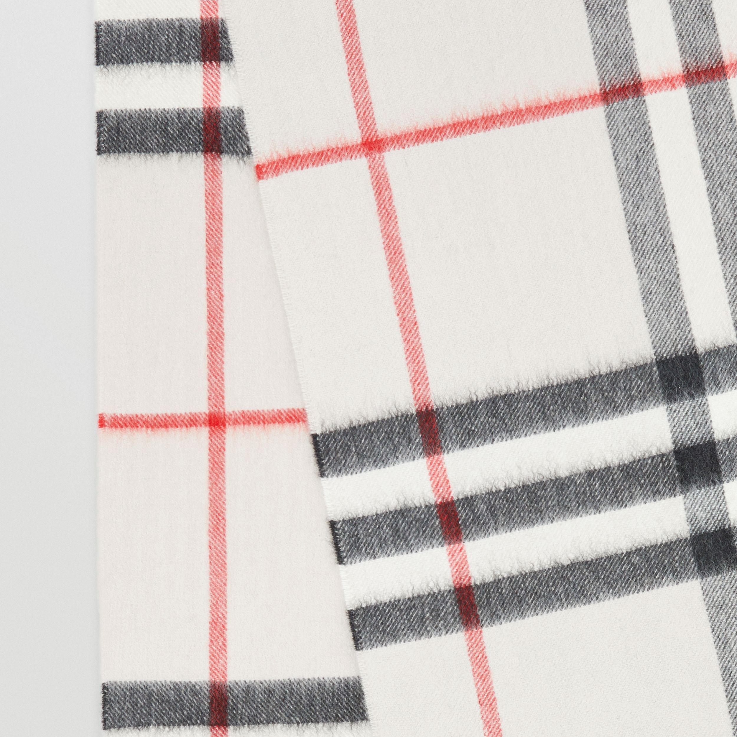 The Classic Check Cashmere Scarf in Stone | Burberry Singapore - 2