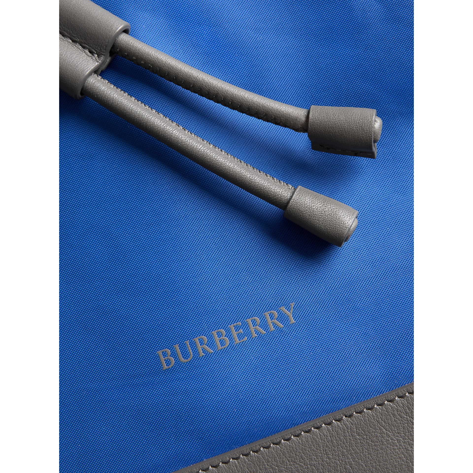 Tri-tone Nylon and Leather Backpack in Dark Canvas Blue - Men | Burberry United States - gallery image 1