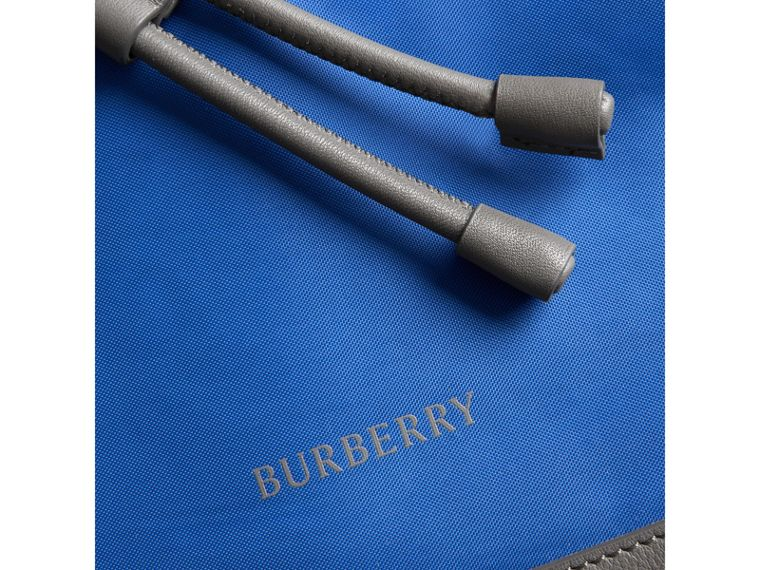 Tri-tone Nylon and Leather Backpack in Dark Canvas Blue - Men | Burberry - cell image 1