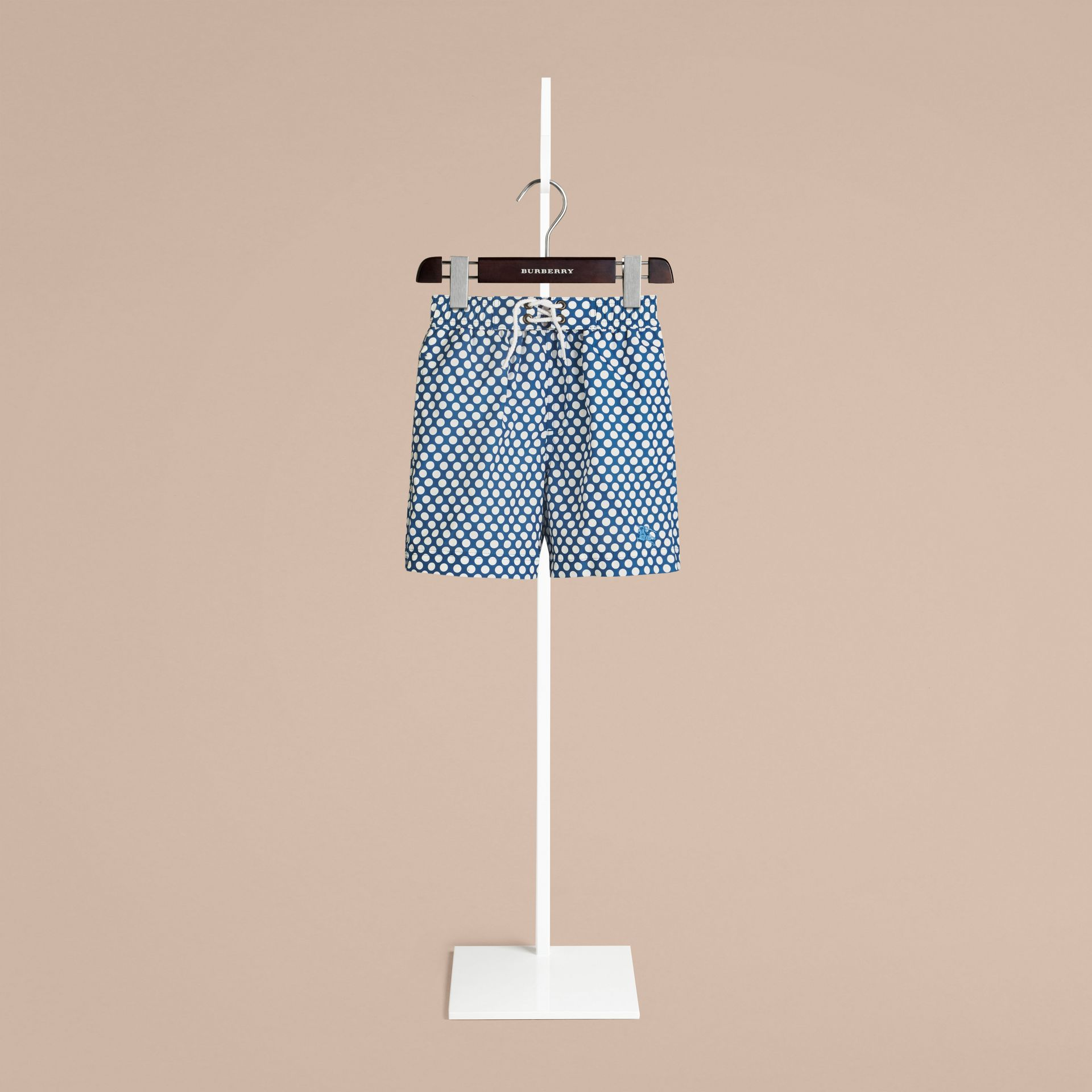 Lupin blue Polka Dot Print Swim Shorts Lupin Blue - gallery image 1