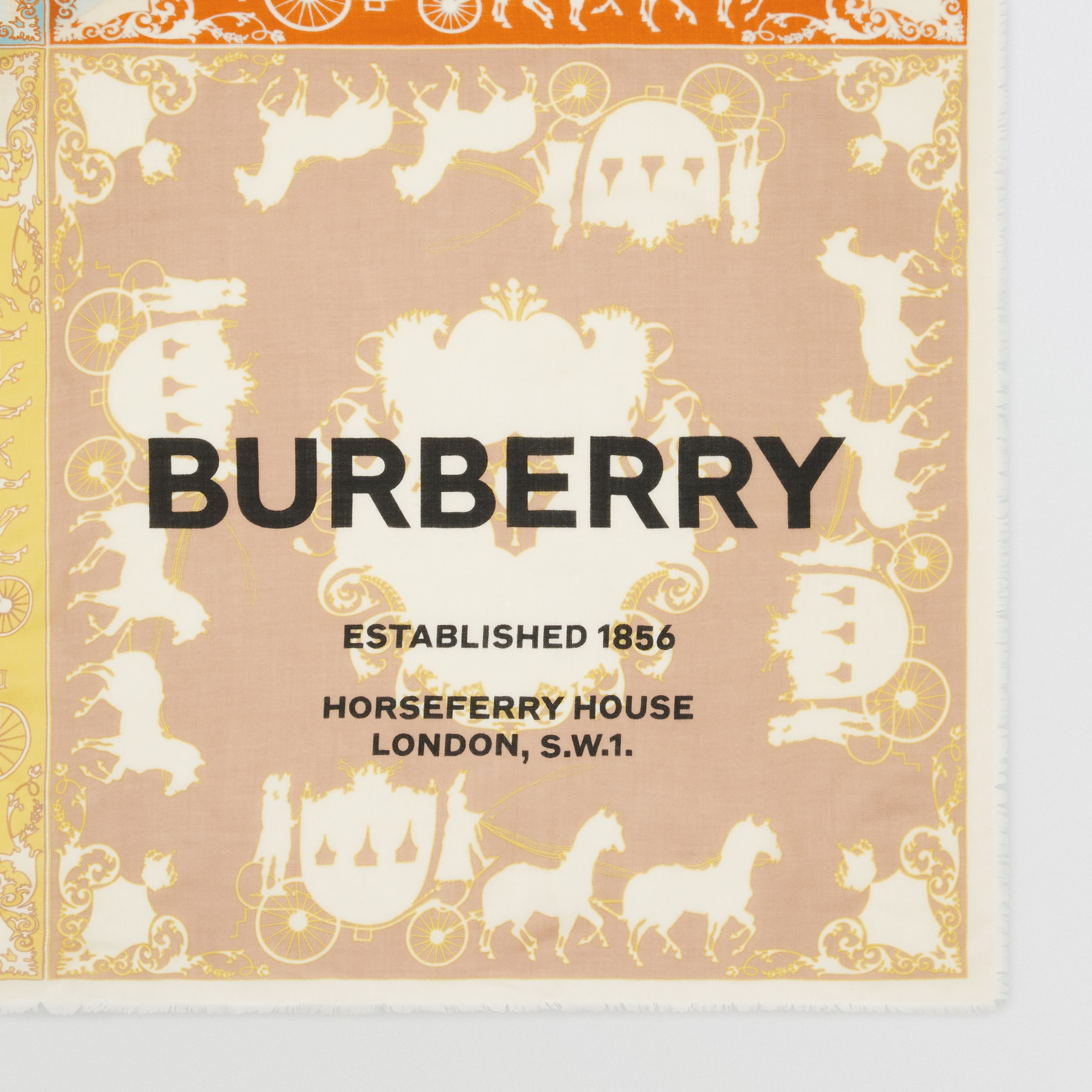 Archive Scarf Print Cashmere Large Square Scarf in Multicolour - Men | Burberry - 2